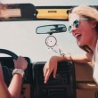 Teen girls in vehicle on a road trip — Stock Video #69857329