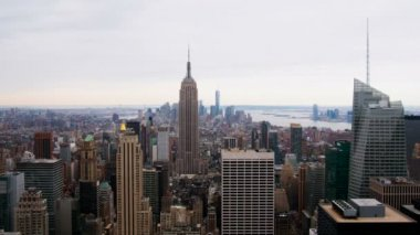 Empire State Building and World Trade Center — Stockvideo