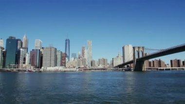 マンハッタンとブルックリン ブリッジのタイムラプス — ストックビデオ