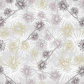 カラフルな抽象的な花とのシームレスなパターン ベクトル — ストックベクタ