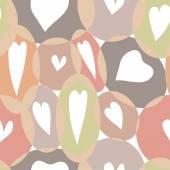 Hearts seamless pattern — Vettoriale Stock