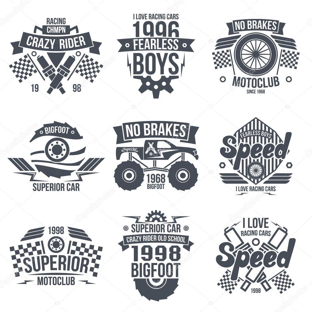 跑车logo 矢量图