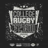 Icônes et emblème de football américain équipe Collège — Vecteur