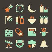 Icons deep sleep — Stock Vector