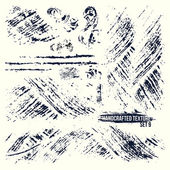Set of handcrafted textures — Stock Vector