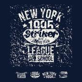 College New York team rugby retro emblem and design elements — Stockvektor