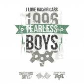 Emblem of the fearless riders boys in retro style  — Stockvektor