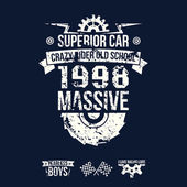 Emblem of the massive superior car in retro style — Wektor stockowy