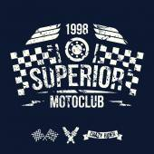 Emblem of the motorcycle club in retro style — Vetorial Stock