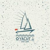 Yacht emblem  — Vector de stock