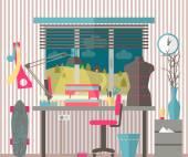 House female hobbies — Stock Vector