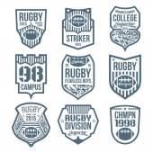Rugby emblems  — Cтоковый вектор