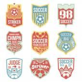 эмблемы футбол — Cтоковый вектор