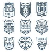 Soccer emblems  — Vettoriale Stock