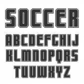 шрифт шрифта sans в спортивном стиле — Cтоковый вектор