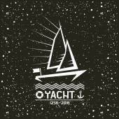 Yacht emblem — Stock Vector