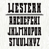 Bold serif font in the western style  — Stock Vector