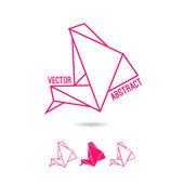Abstrakte Struktur der Dreiecke — Stockvektor