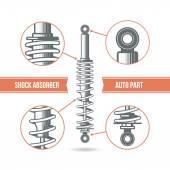 Car shock absorber icon — Stock Vector