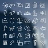 Navigation online store and business icons — Stock Vector