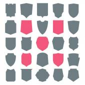 Shield icons set — Stock Vector