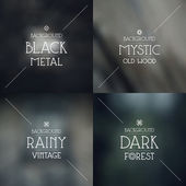 Set of dark blurred backgrounds — Stock Vector