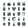 Variety of food icons set — Stock Vector #71108039