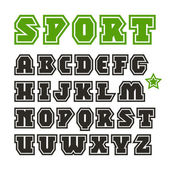 Serif font in sport style — Stock Vector
