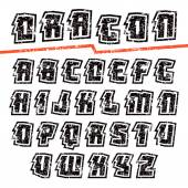 Decorative sans serif font — Stock Vector