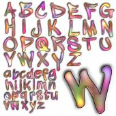 Abc のアルファベットのレタリング デザイン — ストック写真