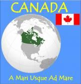 Canada location emblem motto — Vetorial Stock