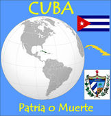 Cuba location emblem motto — Stockvektor