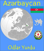 Azerbaijan location emblem motto — Vector de stock