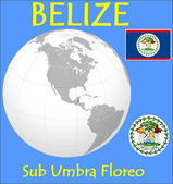 Belize location emblem motto — Stock Vector
