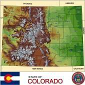 Colorado counties emblem map — Stock Vector
