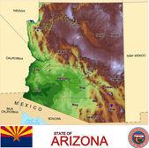 Arizona counties emblem map — Stock Vector