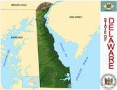 Delaware counties emblem map — Stock Vector