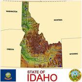 Idaho counties emblem map — Stock Vector