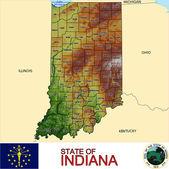 Indiana counties emblem map — Stock Vector