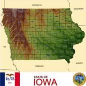 Iowa counties emblem map — Stock Vector