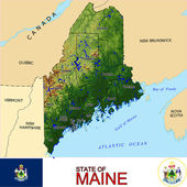 Maine counties emblem map — Stock Vector
