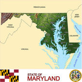Maryland counties emblem map — Stock Vector