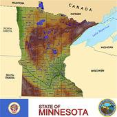 Minnesota counties emblem map — Stock Vector