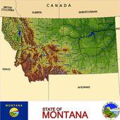 Montana counties emblem map — Stock Vector