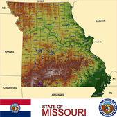 Missouri counties emblem map — Stock Vector