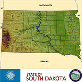South Dakota counties emblem map — Stock vektor