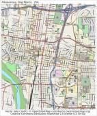 Albuquerque New Mexico city map — Stock Vector