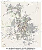 Arequipa Peru city map — Stock Vector