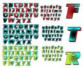 ABC Alphabet lettering design Future combo — Stock Vector