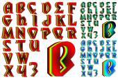 ABC Alphabet lettering design Mystic combo — Stock Vector